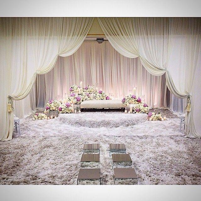 Wedding Nikah Simple Backdrop Decoration Muslim: The Draping Look Really Nice! @muasmo #malayweddingguide