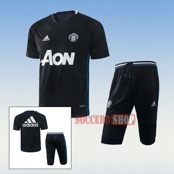 Good Thai Quality Pre Match Manchester United Black Training Jersey Kits 3 4 Training Pants 2017 2018 Cool T Shirts Funny Tshirt Design Mens Shirts