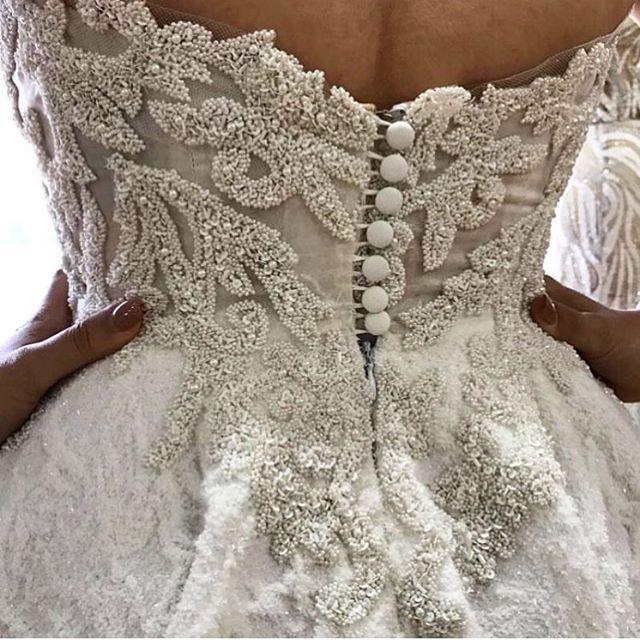 Incredible Back Details ✨ By @alinlekal #bridal #planner #eventplanner #stylist #bride #bridetobe #couture #dresses #create #design #makeup #beauty #boho #flowers #ceremony #weddingplanner #love #photography #weddedwonderland #gettingmarried #fashion #weddingdress #bridalblogger #jewellery #weddingsbyyourstruly #bride2be #princess