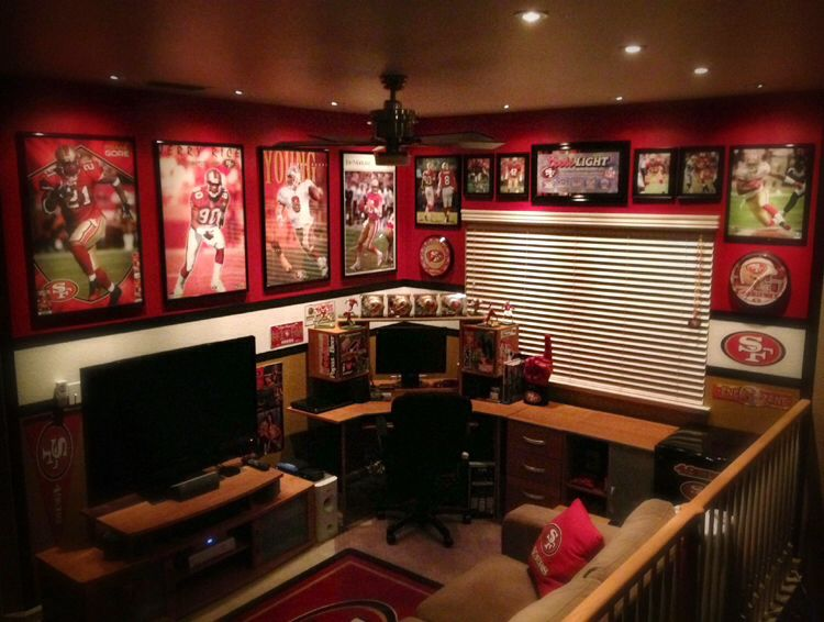 Man Cave Themes : 49ers man cave sports caves pinterest men and