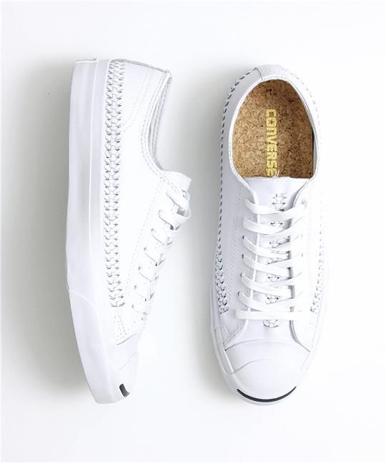 0b71ef60509e Converse Jack Purcell Woven Leather Ox