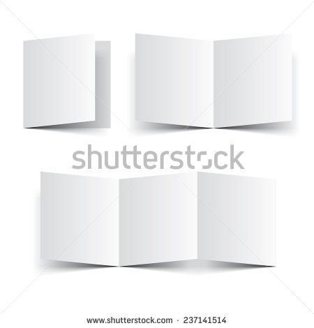 Blank paper template booklet, brochure or leaflet vector Fold - free white paper templates