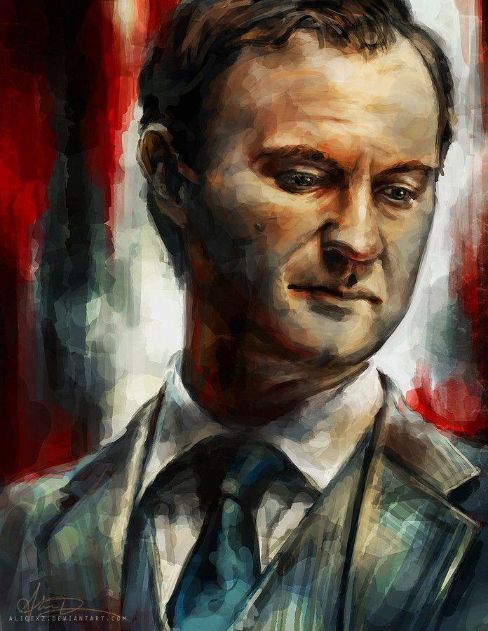 Sherlock portraits by Alice X. Zhang