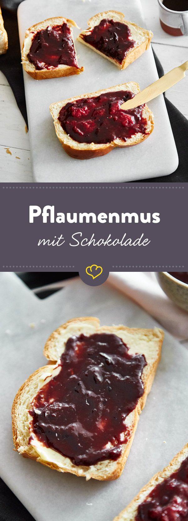 Pflaumenmus Deluxe Mit Schokolade Kardamom Und Zimt Rezept Pflaumenmus Pflaume Essen Und Trinken