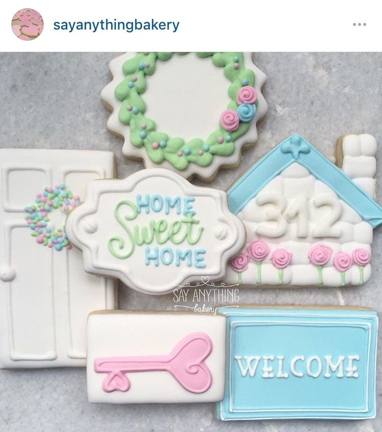 Home house warming key door wreath | Cookie Designs - Occupations ...