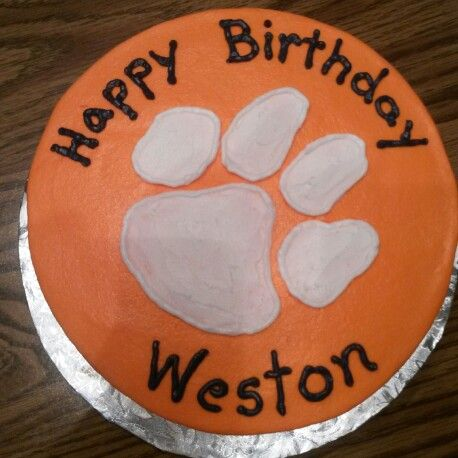 Clemson Fan Birthday Cake Birthday Cakes By Me Pinterest - Clemson birthday cakes