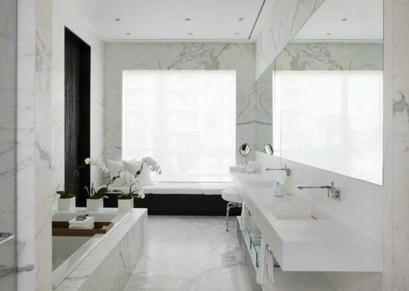 Carrelage et sol en marbre comme accent de l\u0027intérieur \u2013 55 exemples