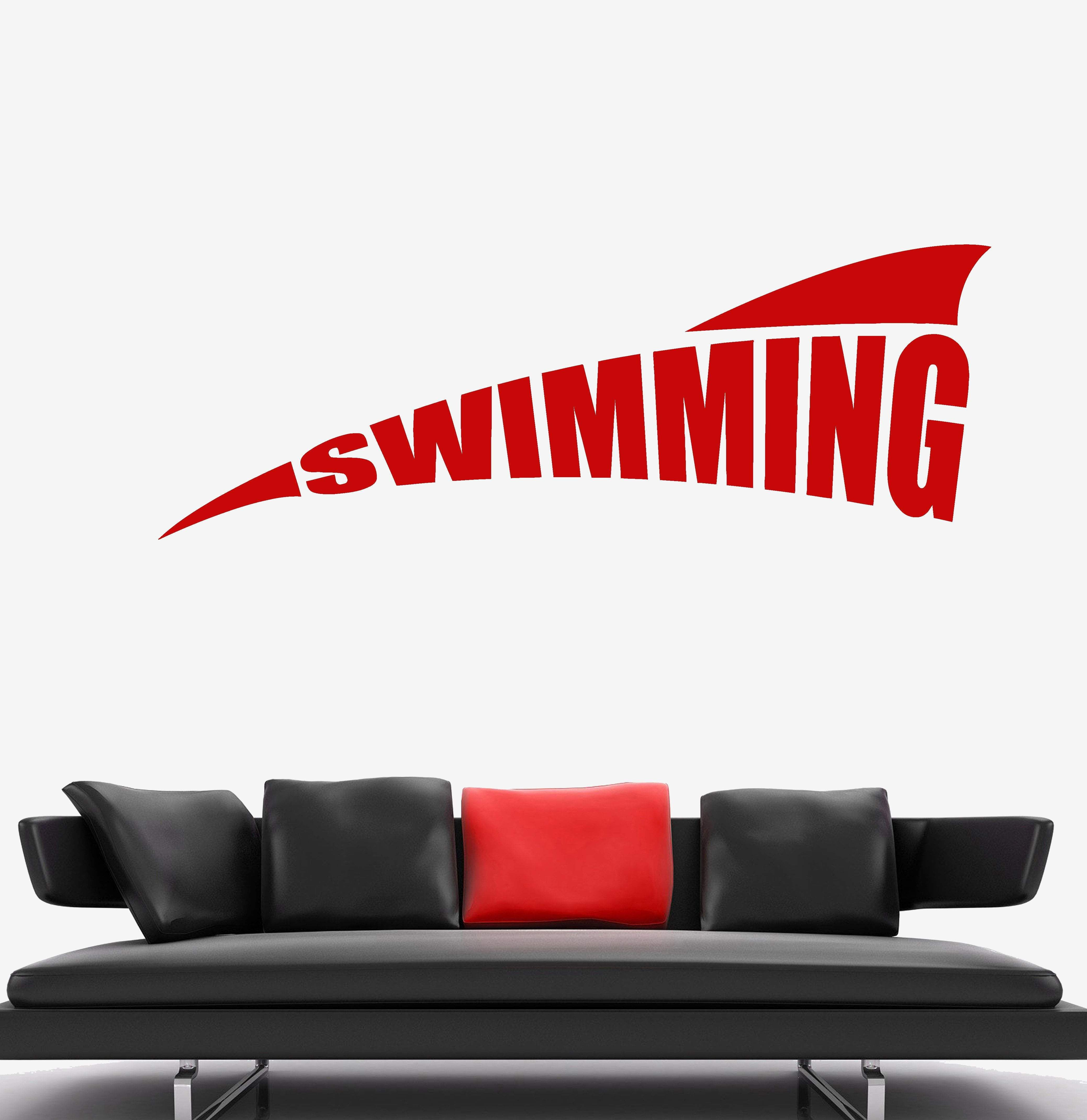 vinyl wall decal swimming pool logo water sports stickers on wall logo decal id=95903
