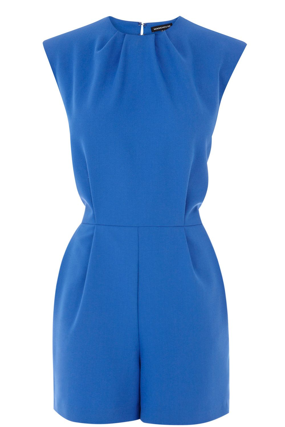 485a91aae67 high neck electric blue playsuit from warehouse.co.uk