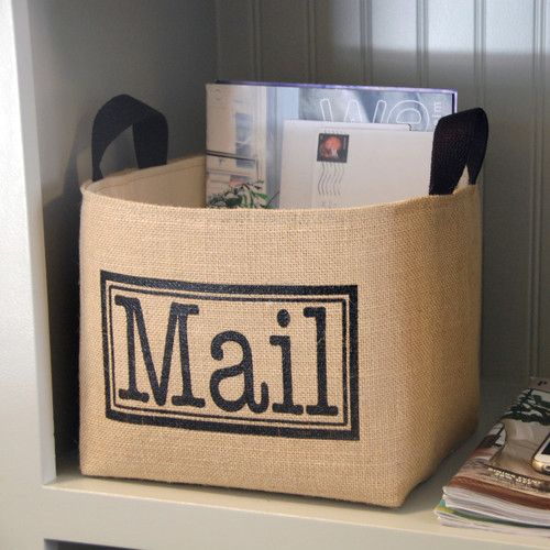 Found it at Wayfair - Mail Burlap Storage Bin