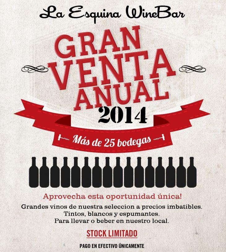 Gran venta de vinos en La Esquina WineBar
