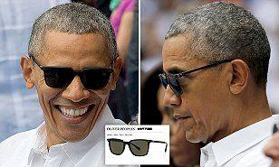 3cd84e6c2a5 Obama wears a pair of  485 designer sunglasses in Cuba