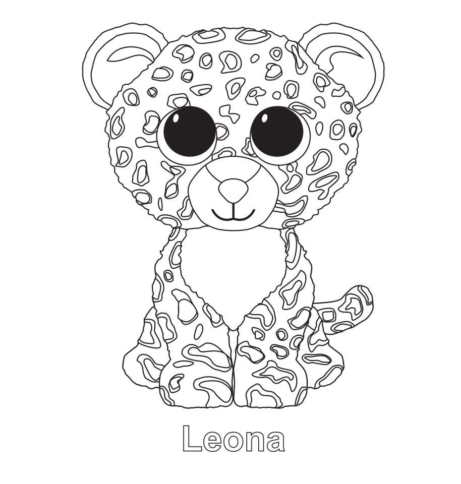 leona the leopard ty beanie boo animals pinterest peluche. Black Bedroom Furniture Sets. Home Design Ideas