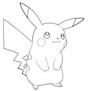 Pikachu white. Pokemon black and clipart