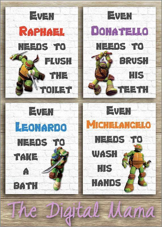 Ninja Turtle Bedroom Decor Unique Ninja Turtles Bathroom Art Wall Art Home Decor Digital Ninja Turtle Bathroom Ninja Turtles Bedroom Decor Turtle Bedroom