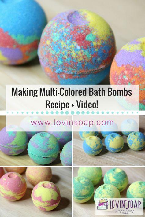 Making Multi Colored Bath Bombs Diy Bath Fizzies Video