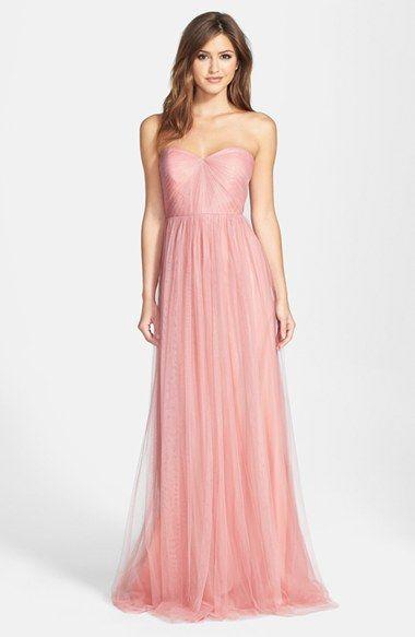 Annabelle Convertible Tulle Column Dress | Column dress, Convertible ...