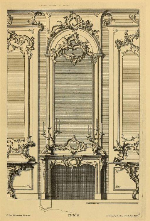 Rococo louis xv palatial residence pinterest luis xv for Decoracion rococo