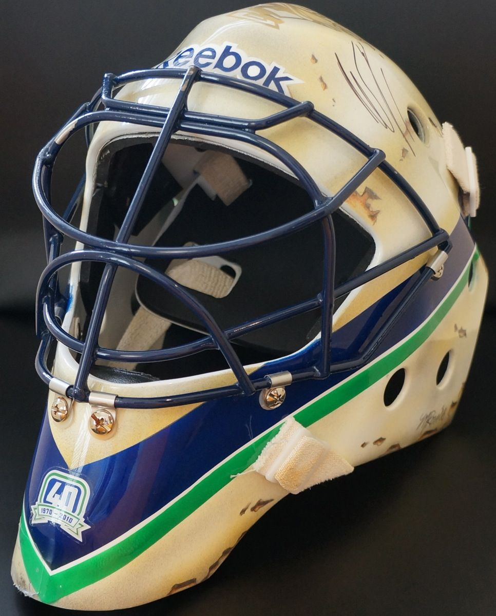 Roberto Luongo Game Used Mask Vancouver Canucks Goalies Masked