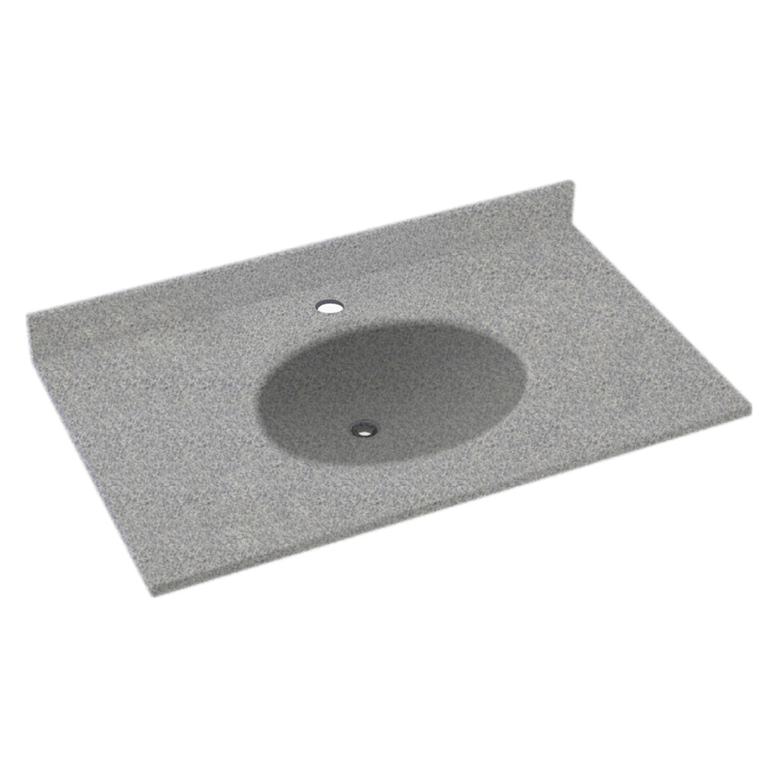 Swanstone 49w X 22d In Ellipse Solid Surface Vanity Top Gray