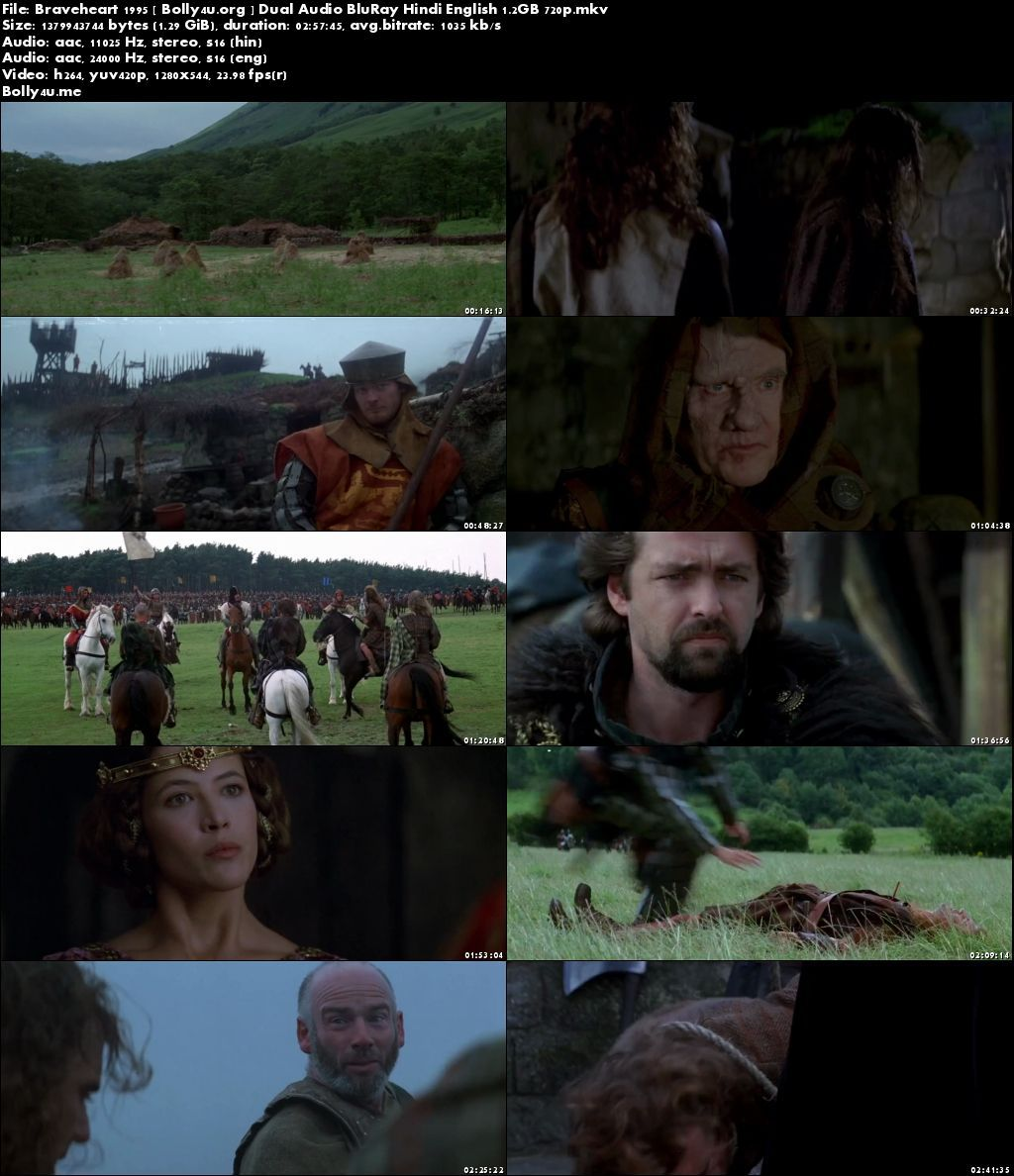 Braveheart 1995 BluRay 550MB Hindi Dubbed Dual Audio 480p Director