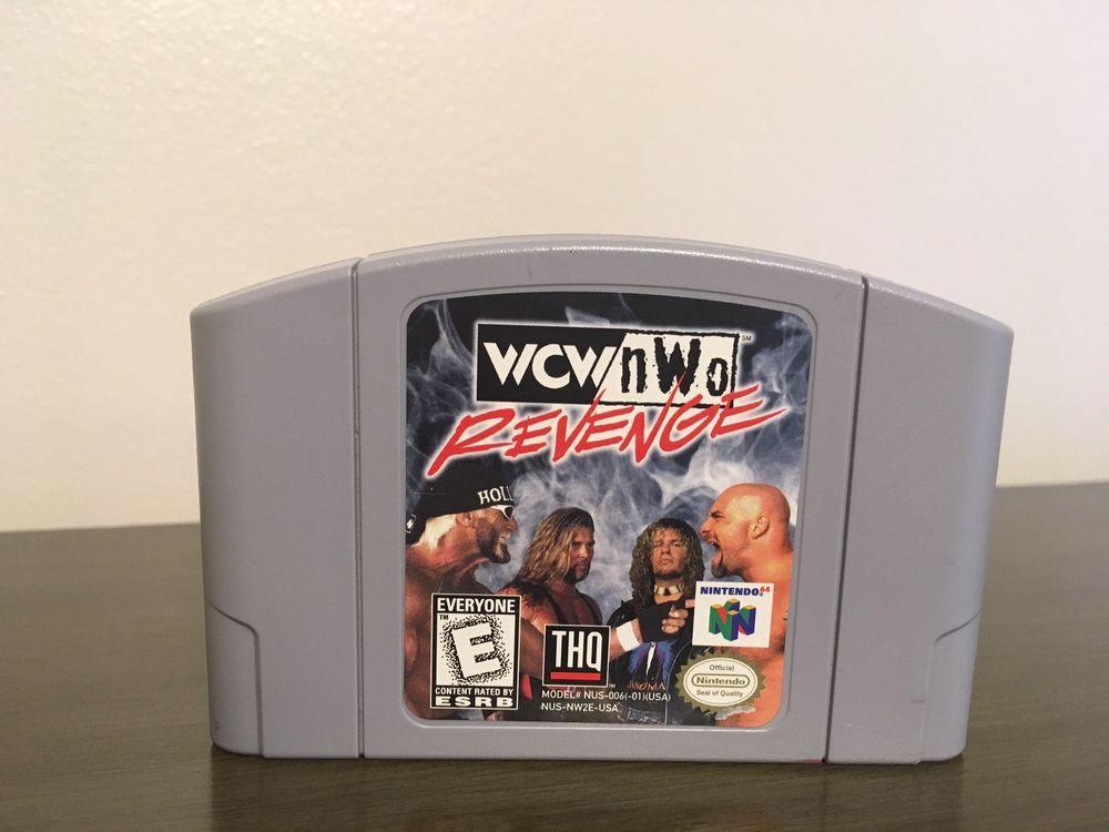 Wcw Nwo Revenge Nintendo 64 1998 Wrestling Game Cartridge Tested