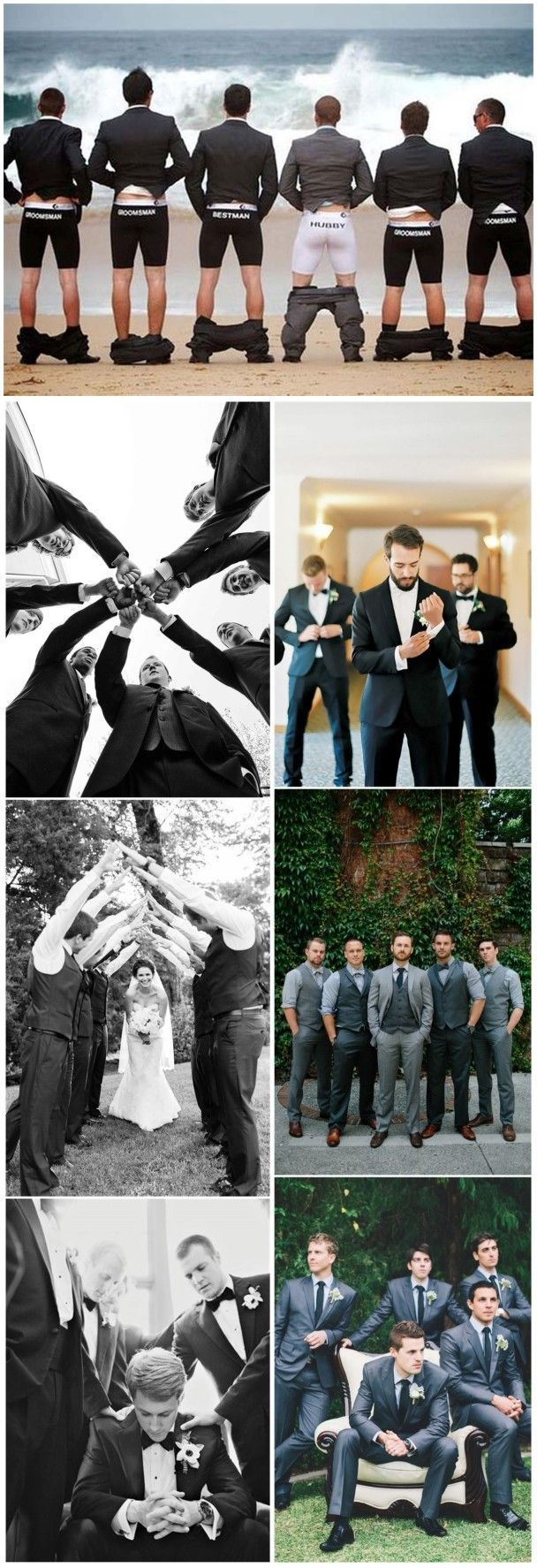 21 Must-have Groomsmen Photos Ideas to Make an Awesome Wedding – WeddingInclude – Boda fotos