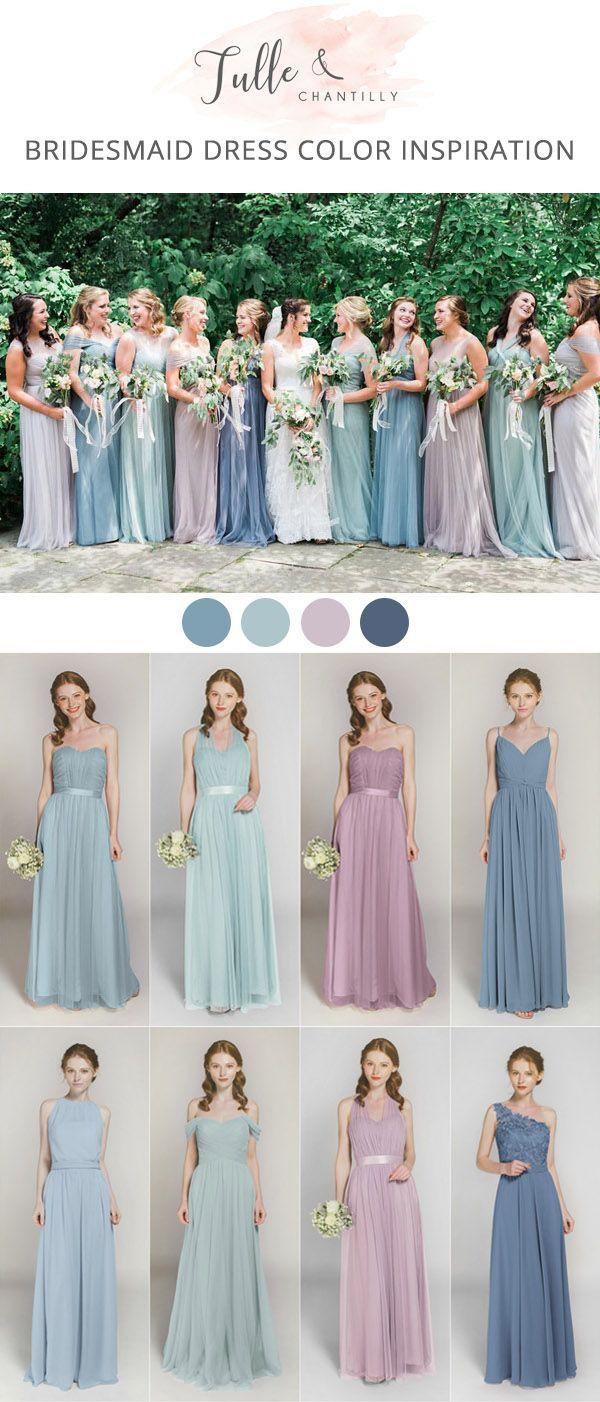 Long Short Bridesmaid Dresses 80 149 Size 2 30 And 50 Colors Lavender Bridesmaid Dresses Wedding Bridesmaids Dresses Blue Lavender Bridesmaid