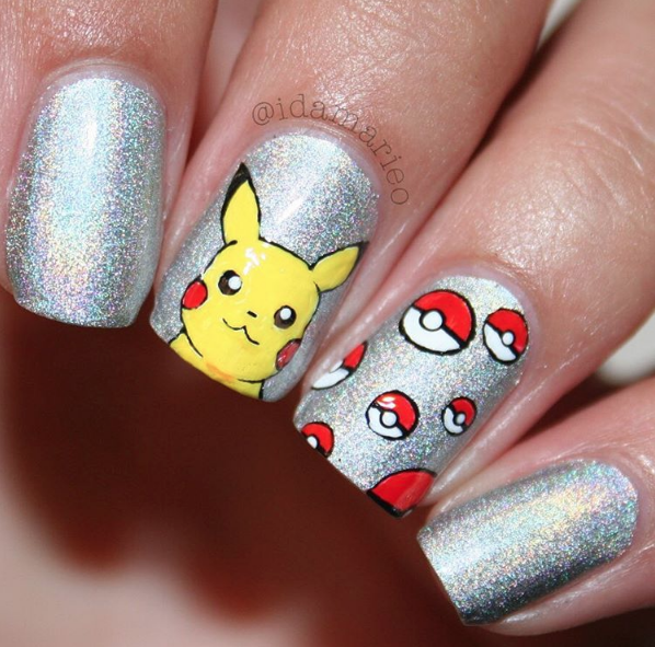 Pokemon Nail Art Design http://miascollection.com - Pokemon Nail Art Design Http://miascollection.com Wonderful