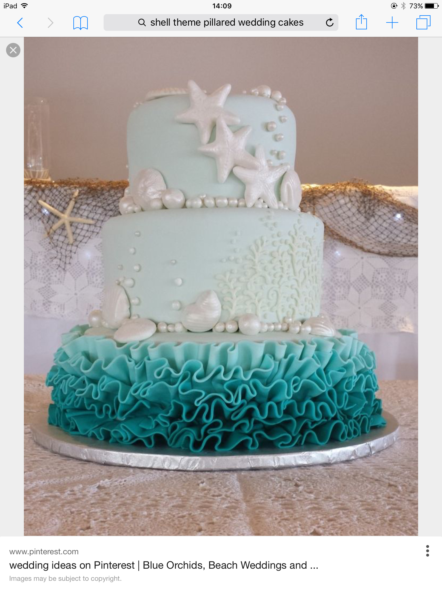 CAKE using pearls icing rolled in iridescent powder to look