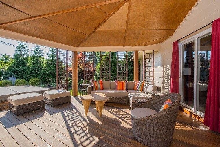 Porches jard n y muebles preciosos para la entrada - Porches y jardines ...