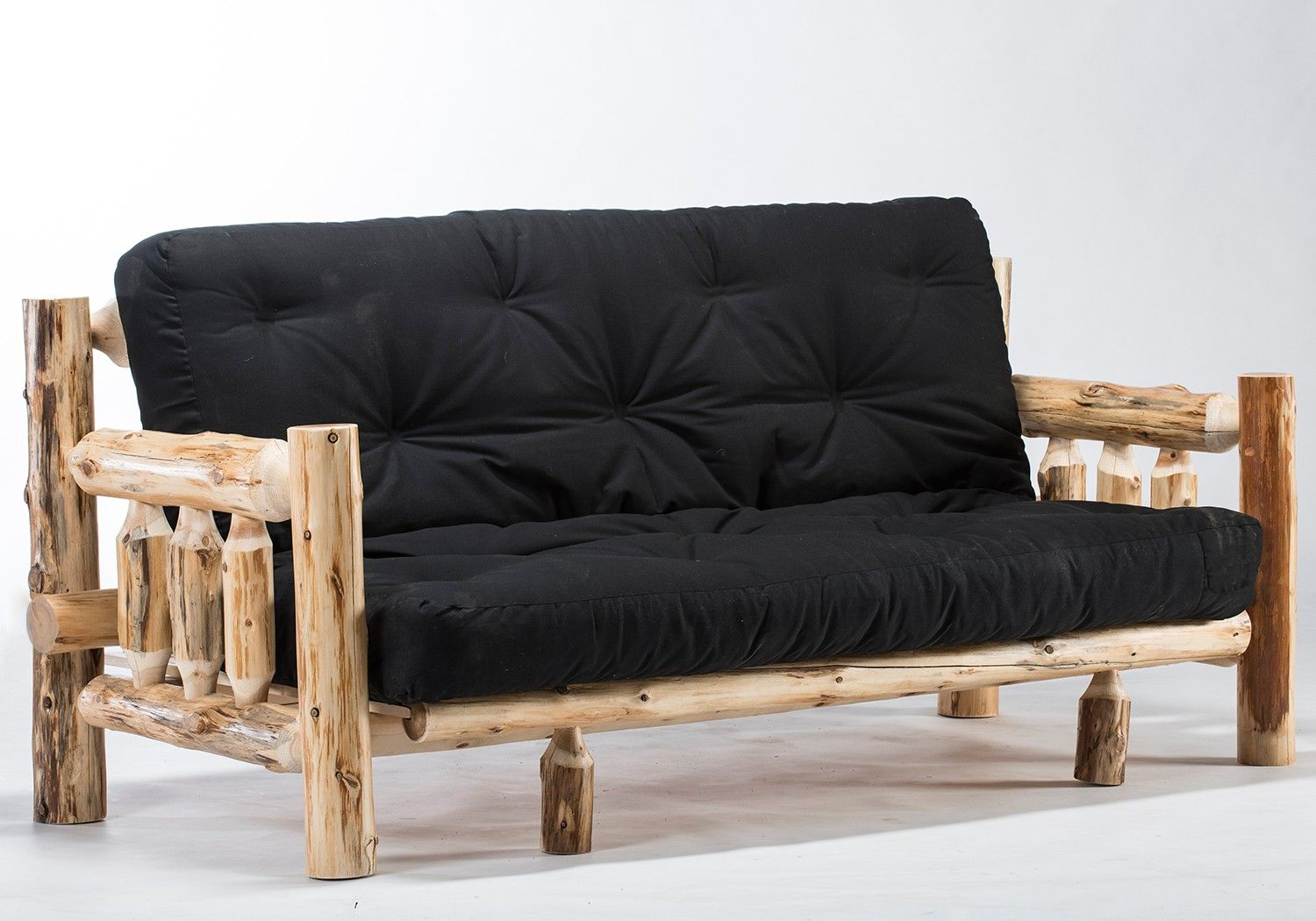 This Beautifully Rustic Log Futon Will Look Great In Your Lodge Cabin Country Cottage Or Even Western Ranch Bunk House