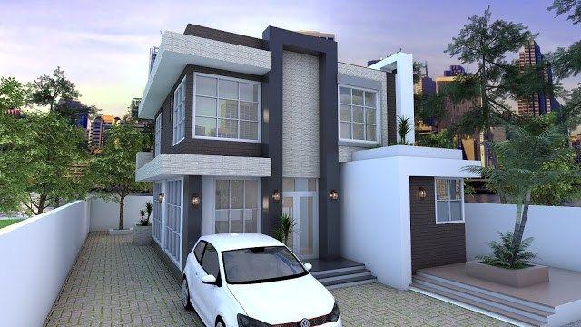 4 Bedrooms Home Design Plan 9x9m Building House Design Home