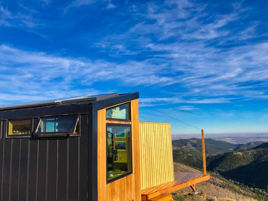 Off Grid Designer Tiny House On A Mountain Top Cabins For Rent In Boulder Colorado United States Airbnb Colorado Vacation Home Condo Rental