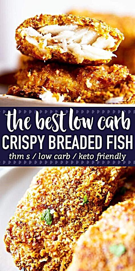Low Carb Oven Fried Fish is a delicious way to serve up breaded fish - without all of the carbs! The...