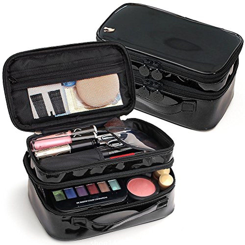 Large Capacity Cosmetic Bag Makeup Brush Holder Organizer