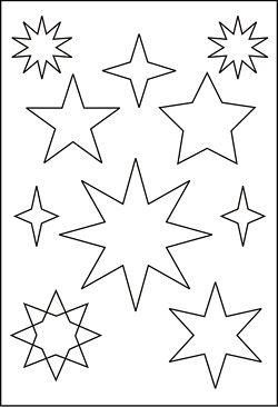 sternvorlage | weihnachten basteln vorlagen, sternenvorlage und fensterdeko weihnachten basteln