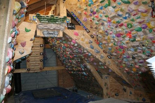 Home Climbing Wall this is totally new to me. wow takes some strength! awesome