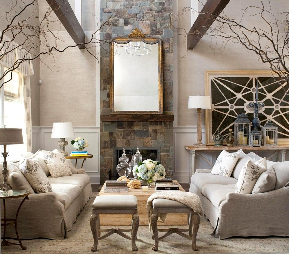 art deco living room with an old style mirror - How to add style and ...