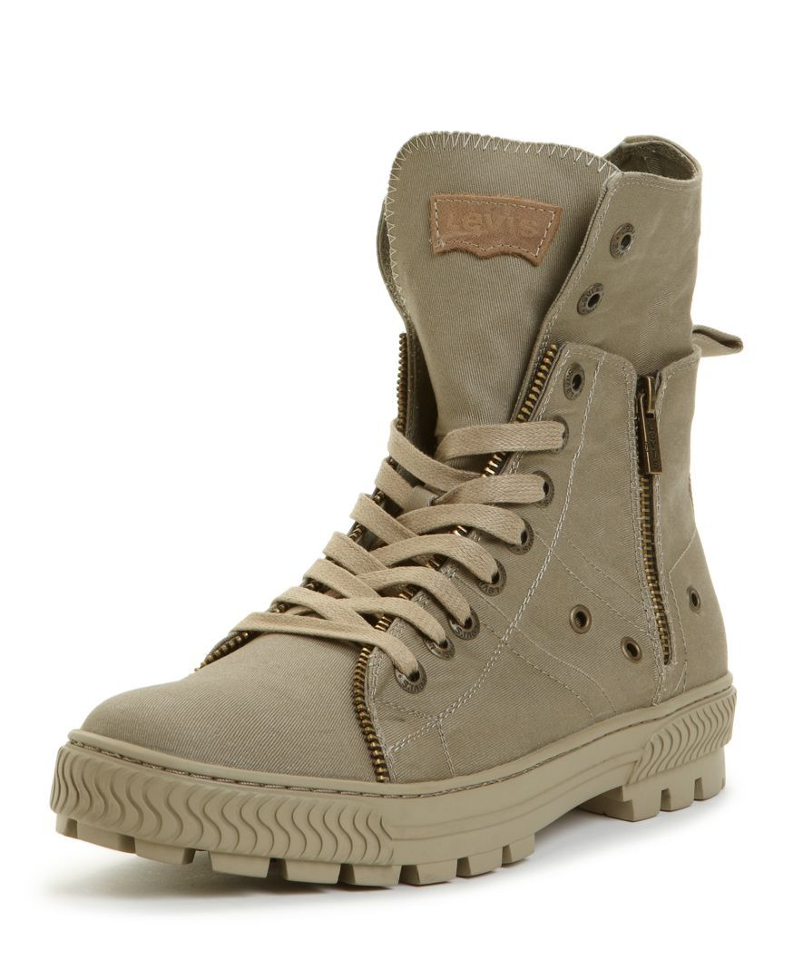 online store 08f9e f3016 Mike - you need these shoes! Levis Shoes, Canvas Sahara Hi Top Boots -  Mens All Mens Shoes - Macys  49.99