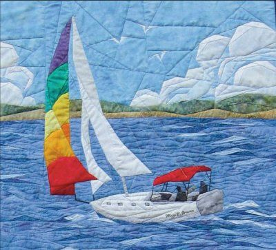 Sailing Away Quilt Pattern - The Virginia Quilter