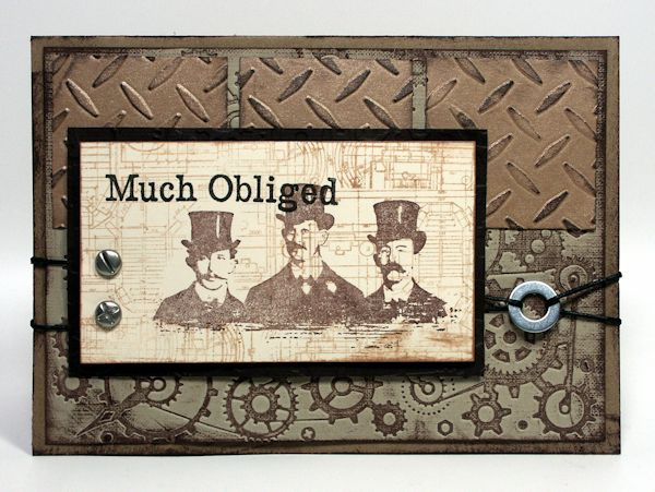 masculine card... would be cool with any of the TH stamps.. or a truck?