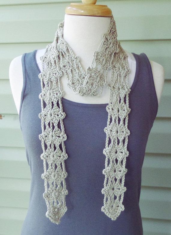 PATTERN S-016 / Crochet Pattern / Allegra Scarf ... Sport 100 ...