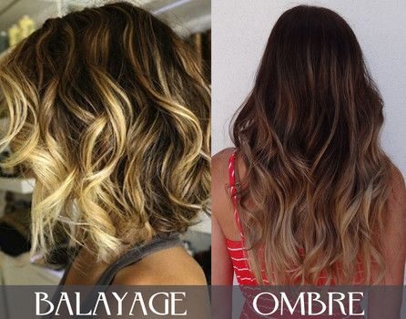 Balayage vs ombre short hair for A davis brown salon