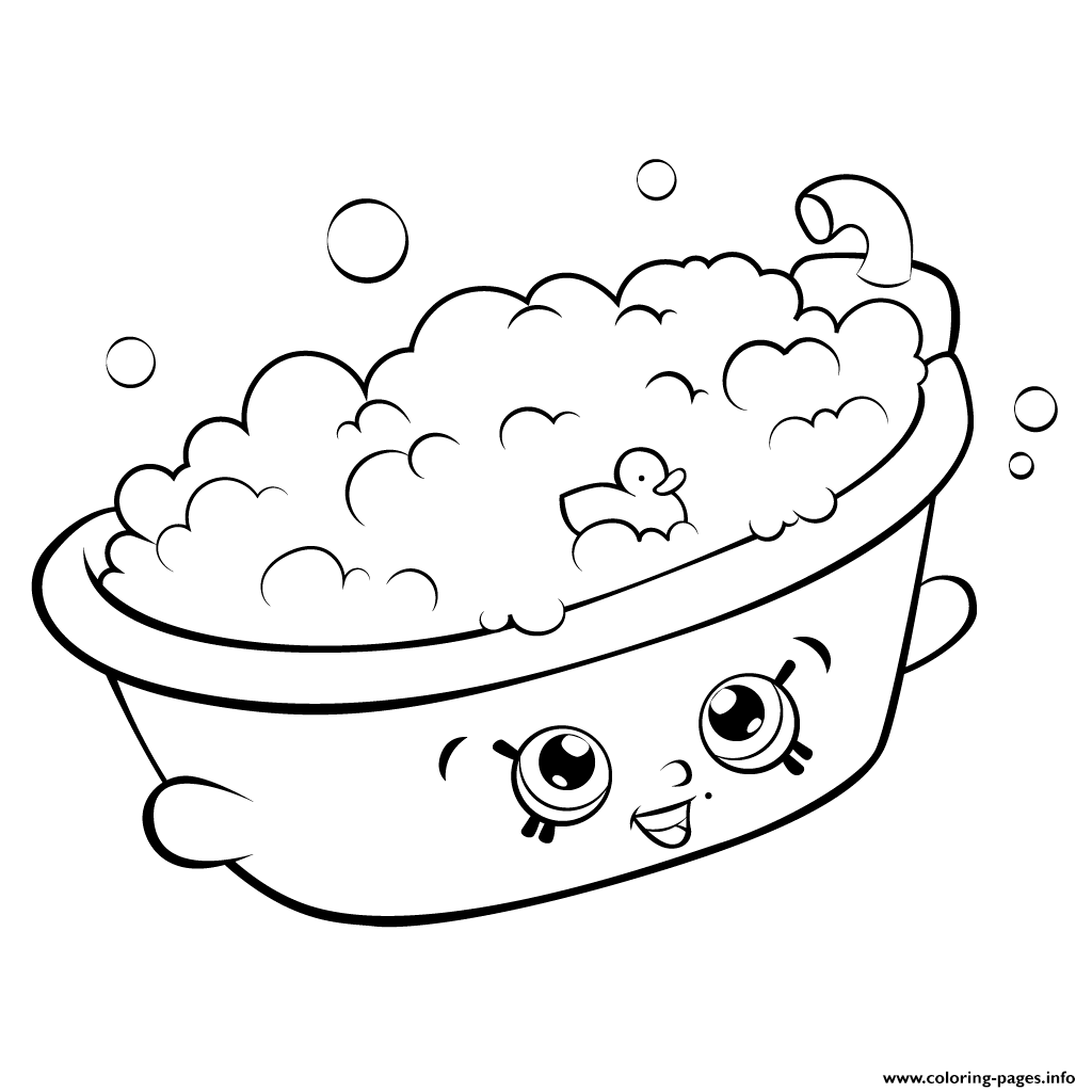 Shopkins coloring pages season 5 shopkins awesome printable coloring - Print Bathtub Shopkins Season 5 Coloring Pages