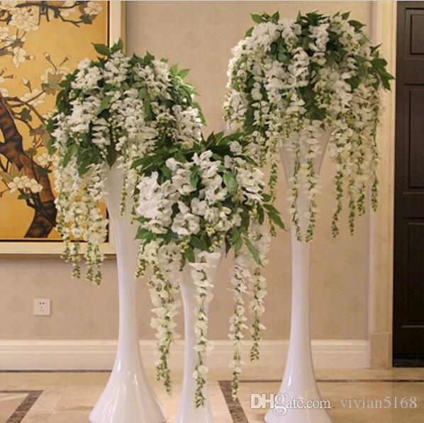 simulation wisteria garland craft hochzeit dekoration k nstliche blumen f r dekoration silk. Black Bedroom Furniture Sets. Home Design Ideas