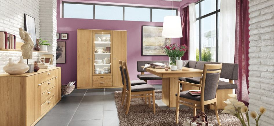 Dining Room Cabinet Purple Wall Large Chest Of Drawer Brown Rug