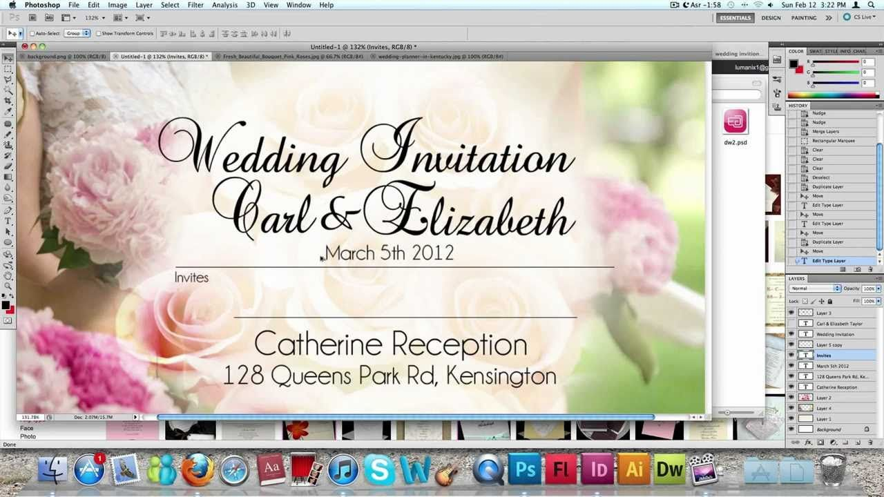 How To Make A Wedding Invitation Card Usng Photoshop Marriage