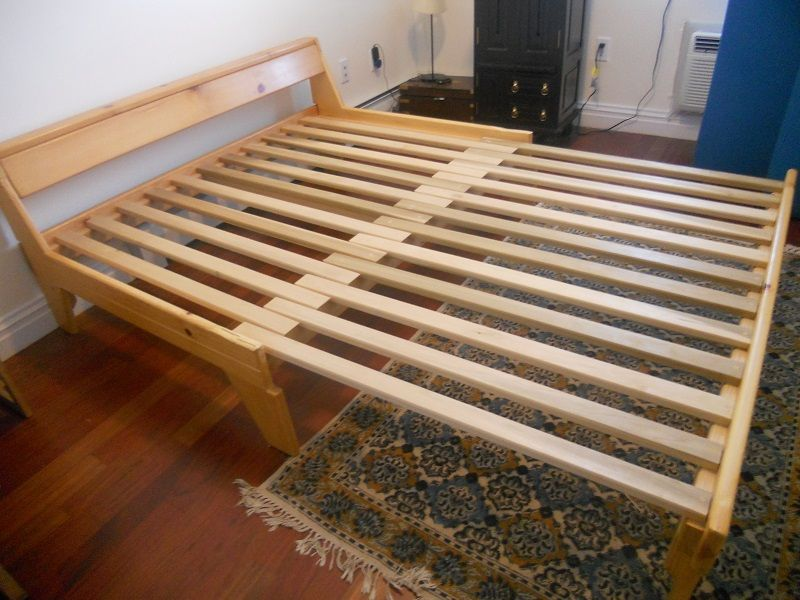 could be made lower again would just rely on getting making a futon style mattress  air bed would work however would have to keep letting it down     futon frames queen size   bigfroot ideas   pinterest   futon frame      rh   pinterest