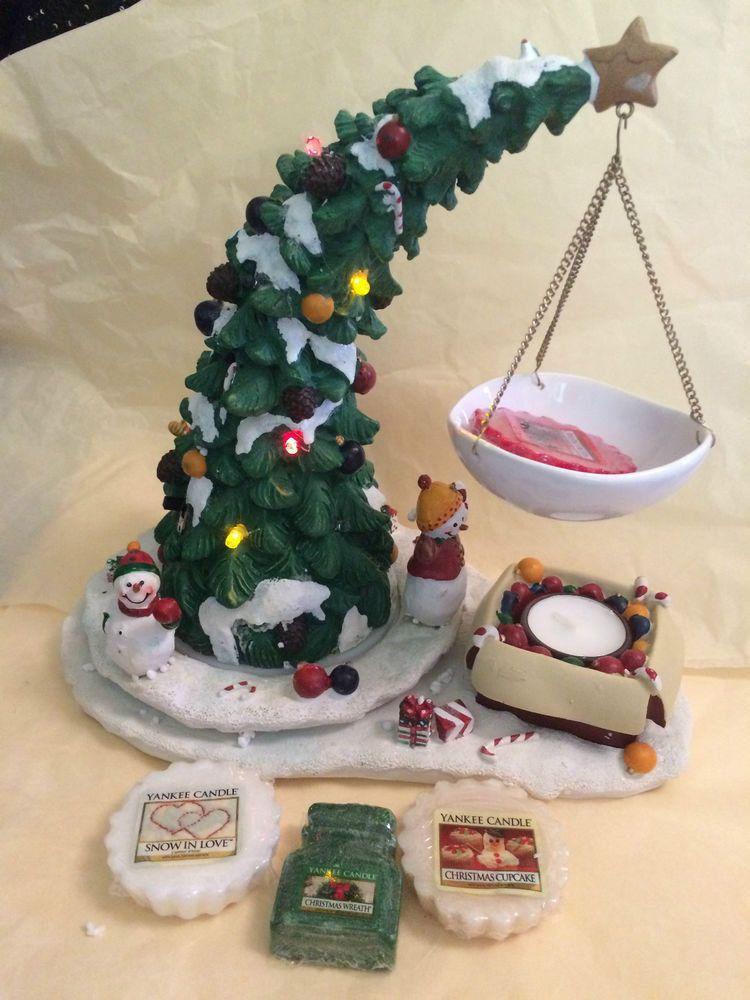 Yankee Candle White Christmas Tree Tea Light Luminary Candle Holder Yankeecandle Candle Luminaries Yankee Candle White Candles